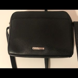 Rebecca Minkoff black leather crossbody purse